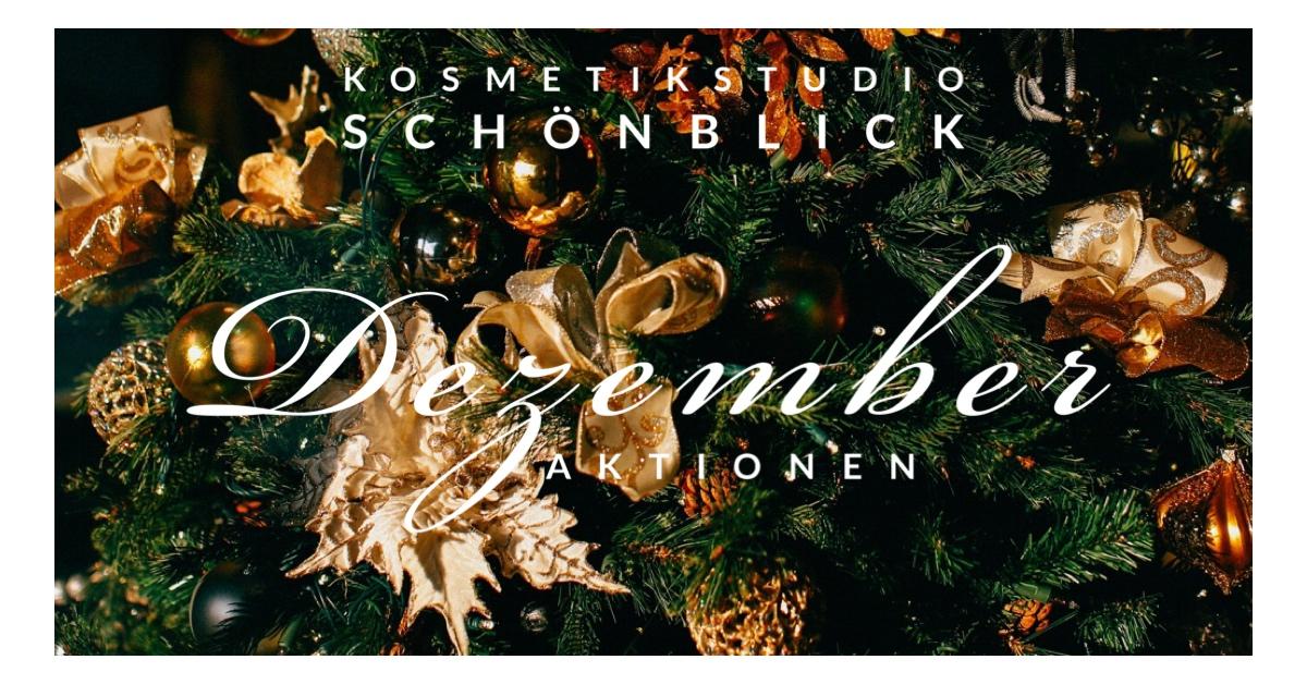 Beauty Christmas-Angebote - Kosmetikstudio Schönblick